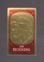 1965 Topps Embossed # 17 Jim Bunning EX Condition - $2.79