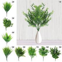 7 Fork water grass Eucalyptus Plastic Artificial Plants Green Grass plas... - $2.06+