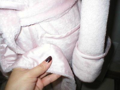NWT New Natori Pink Faux Fur Robe Womens Long Very Soft Pockets M Dusty Rose Lus image 4