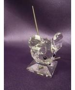 Signed Swarovski Crystal Large Mouse Figurine Vintage - $44.55