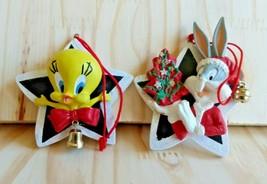 Looney Tunes 1996 Bugs Bunny Tweety Bird Ornament Lot Of 2 Warner Bros. - $12.19