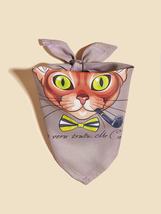 Cat Print Bandana, Pet bandana, Dog bandana, Pet gifts - $10.60