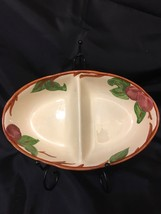 Franciscan APPLE Divided Dish Bowl Made in England - Dishwasher Microwav... - $21.78