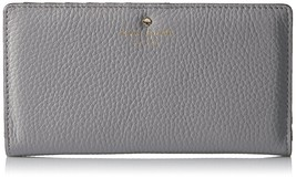 NWT Kate Spade New York Cobble Hill Leather Stacy Wallet City Fog Gray - $95.59
