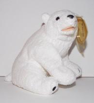 Ty Beanie Baby Aurora Plush Polar Bear 5in Stuffed Animal Retired Tag 2000 - $9.99