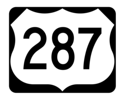 US Route 287 Sticker R2174 Highway Sign Road Sign - $1.45+