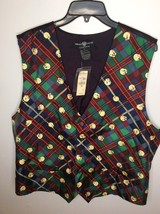 Looney Tunes Tweety Novelty Plaid Silk Vest XL Warner Bros Studio Store ... - $23.19