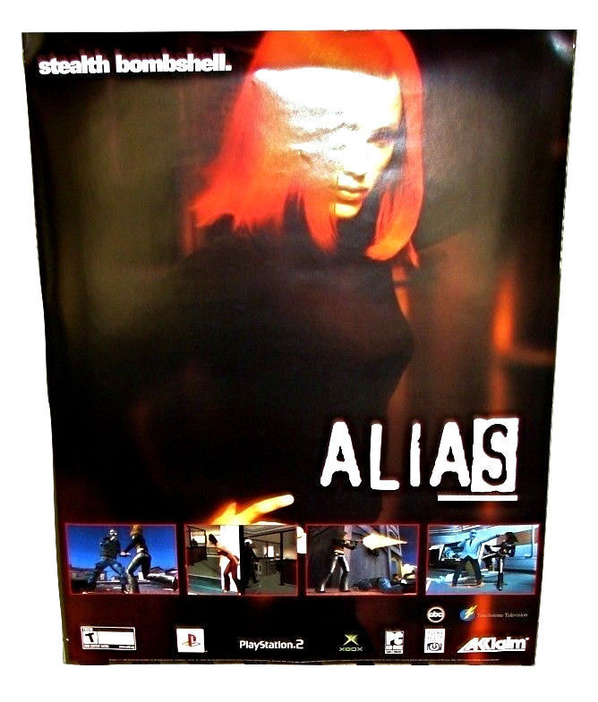 2004 Original ALIAS Video Game Promo POSTER 22x28 Jennifer Garner PS2 XBox