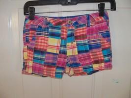 Justice Plaid Printed Chino Shorts Size 10R Girl's Euc - $16.80