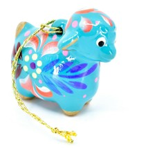 Handcrafted Painted Ceramic Blue Sheep Lamb Confetti Ornament Made in Peru image 1