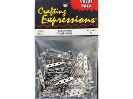"""Crafting Expressions Value Pack 1"""" Silver Bar Pins #5867/3"""