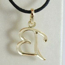 18K YELLOW GOLD PENDANT CHARM INITIAL LETTER B, MADE IN ITALY 0.9 INCHES, 22 MM image 2
