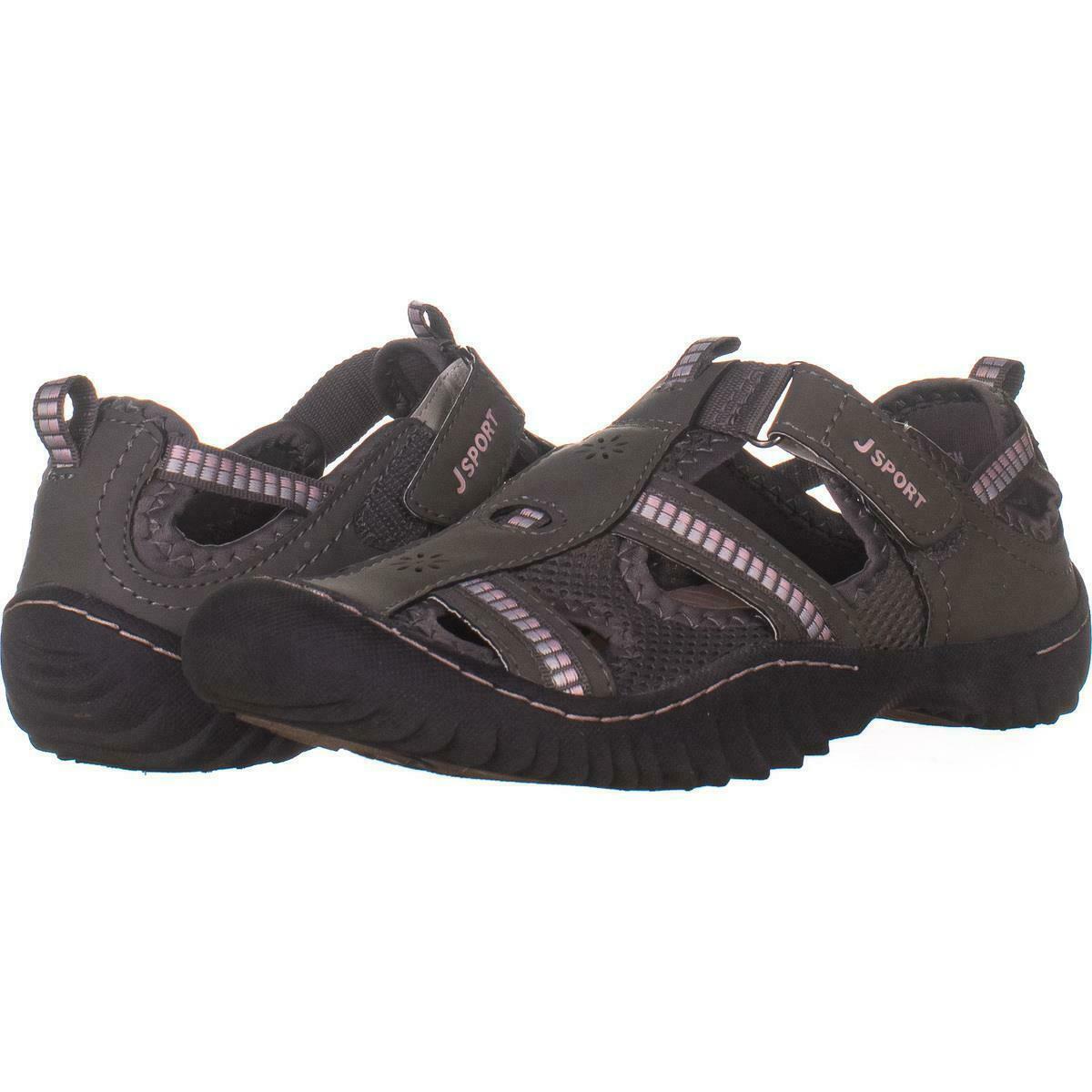 JBU by Jambu Sydney Memory Foam Ladies Flat Sandals Gray Sizes 7 7.5 8 8.5 9 10
