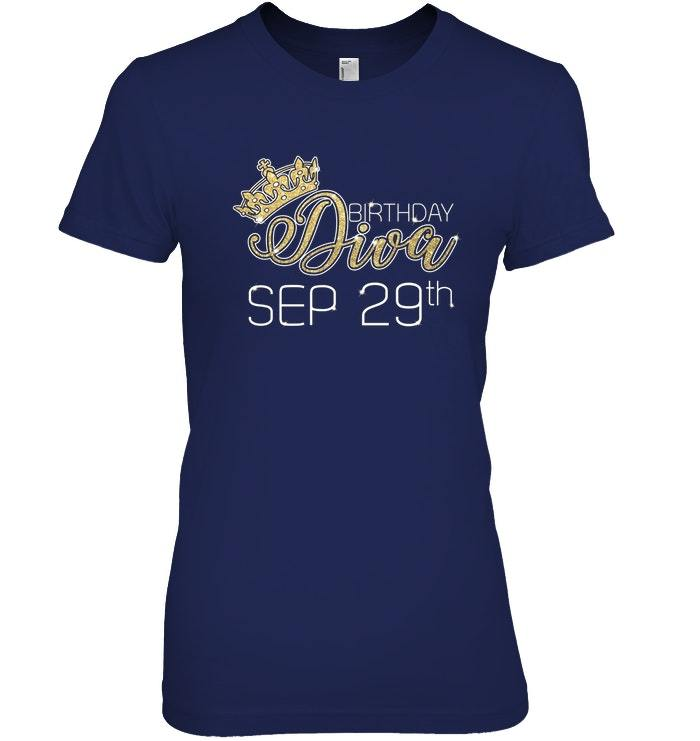 Birthday Diva on September 29th T shirt Virgo Pride