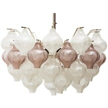 MV2018 LARGE, PURPLE AND CLEAR TULIPAN CHANDELIER - $1,927.00+
