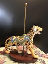 Franklin Mint Porcelain Carousel Leopard Figurine - $17.50