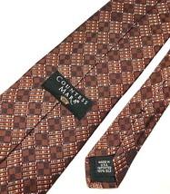New COUNTESS MARA Men's Tie Brown 100% Silk Neck Tie - $12.95