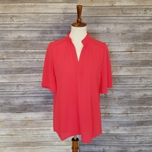New MOA sz S short sleeves v-neck reddish orange loose fit top  - $12.00