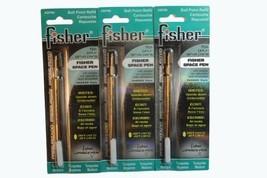 3 Pack Fisher Space Pen Turquoise Ink Refills SPR9 Medium Tip - $20.29