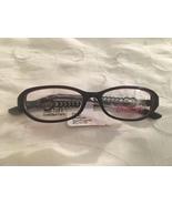 Barbie Kid Tuff Eyeglasses Frames Y LOVE #550663922 Black/Burgundy  - $44.95