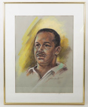 Pastel Framed Drawing of Man Willie Signed Gloria Peterson Plemmons - $395.99