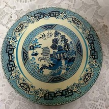 Vintage, Rare, Blue Willow, 6in Tin Round Hot Pad #3 - $14.20