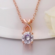 Single Solitaire Swarovski Infinite Drop Necklace - $23.76