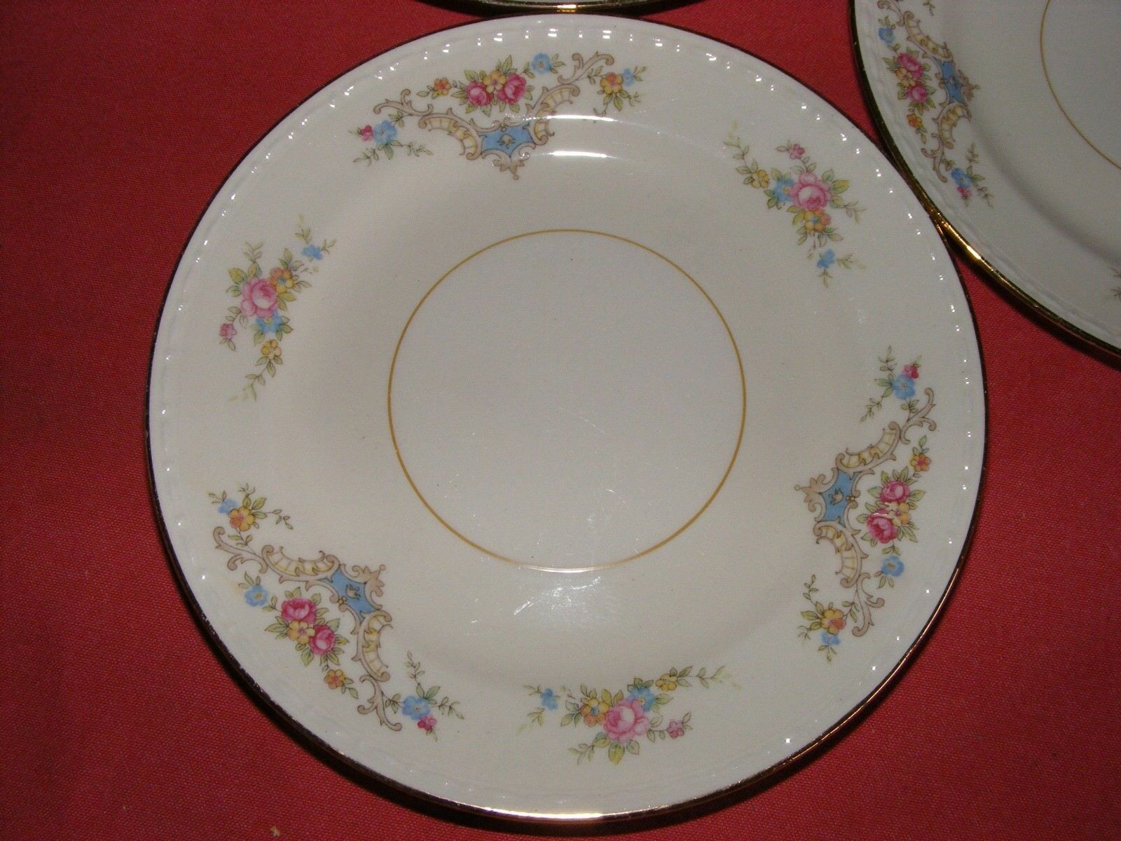 "3 Homer Laughlin Wedgwood 6.25"" Bread Dessert Plates Eggshell Georgian"