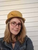 Yellow Hat Mustard Top Hat Autumn Wool Henry Pollak - $24.00
