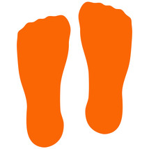 LiteMark Orange Sock Footprint Decal Stickers - Pack of 12 - $19.95