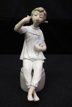 "Lladro GIRL WITH DOLL & Lipstick 7"" Figurine #L1083G, Spain (Missing Lip... - $79.99"