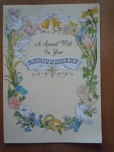 Vintage Hallmark A Special Wish On Your Anniversary Card - $2.99