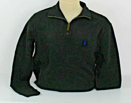 Polo Ralph Lauren Half Zip Sweater Mens Small Black Blue Pony Cotton - $51.40
