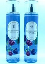 2 Bath & Body Works BLACK RASPBERRY VANILLA Fine Fragrance Mist Spray 8 ... - $23.74