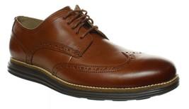 Mens Cole Haan Original Grand Wingtip Oxford - Cognac Leather, Size 12W [C26472] - $129.99