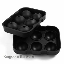 New Silicone Ice Sphere Mold-Flexible Silicone Ice Ball Maker Whiskey Tr... - $13.45