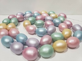 Easter Pastel Bunny Rabbit Eggs Garland Pink Blue Yellow 6ft Decor - $23.99