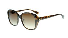 Gucci GG0371SK 002 Sunglasses Brown Havana Frame Brown Gradient Lenses 57mm - $163.93