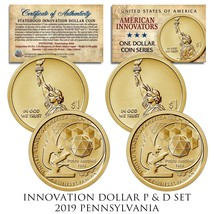 American Innovation PENNSYLVANIA 2019 One-Dollar 2-Coin P & D Set w/CAPS... - $9.46