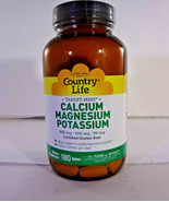 Country Life Target-Mins Calcium Magnesium Potassium 180 Tabs (VS-C) - $18.66