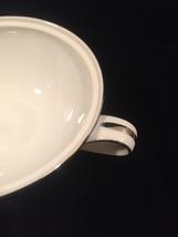 50s Noritake Colony pattern 5932 handled sugar bowl - platinum trim - no lid image 3