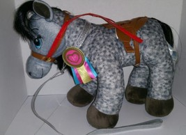 Build A Bear Horses & Hearts Grey Appaloosa Stuffed Animal Plush Saddle ... - $25.00