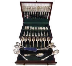 Alexandra by Lunt Sterling Silver Flatware Set for 12 Service 64 pieces ... - $4,200.00