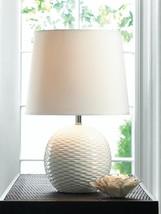 "Fairfax TABLE LAMP Small White Ceramic Desk Gallery of Light 16.4"" NIP 1... - $35.60"