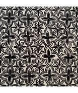 2.4 Yards Premier Prints MM Designs Black Diagonal Quatrefoil Medallion Fabric - $28.99