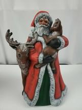Christmas Figures Custom Santa with Reindeer - $22.09