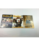 1995, 1996, 1997 Pittsburgh Steelers Yearbooks Fast Shipping! - $20.89