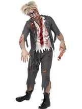 "High School Horror Zombie Schoolboy Costume, Halloween Fancy Dress, 34""-... - $49.41"