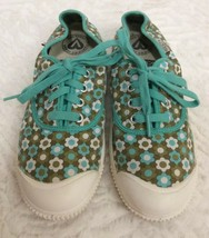Keen Womens Green Retro Floral Vegan Sneakers / Shoes Sz 8 - $29.69