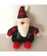 Department 56 Nylon Santa Claus Plush Stuffed Vintage Christmas Puffalum... - $24.99